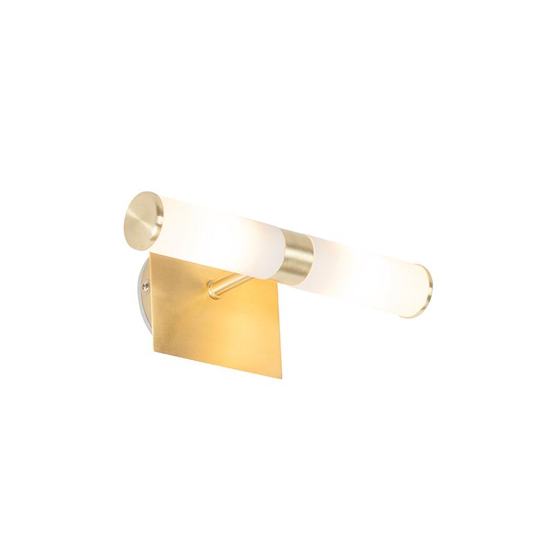 Moderne wandlamp messing IP44 2-lichts - Bath