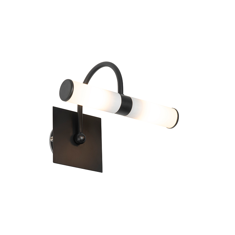 Klassieke wandlamp zwart IP44 2-lichts - Bath Arc