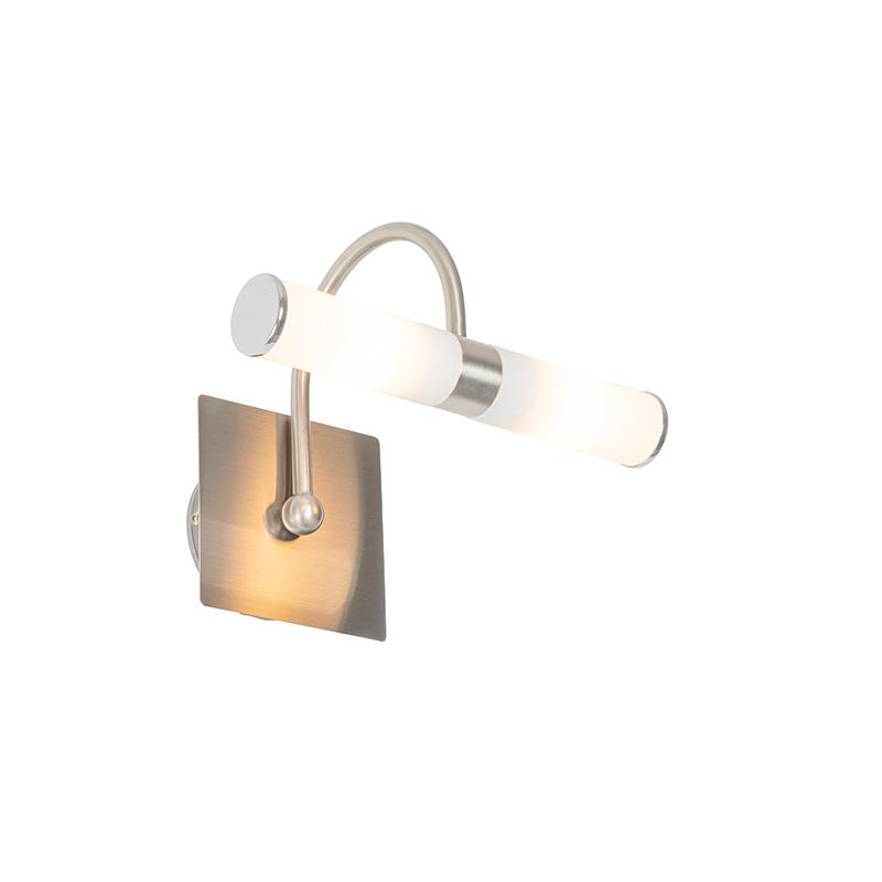 Klassieke wandlamp staal IP44 2-lichts - Bath Arc