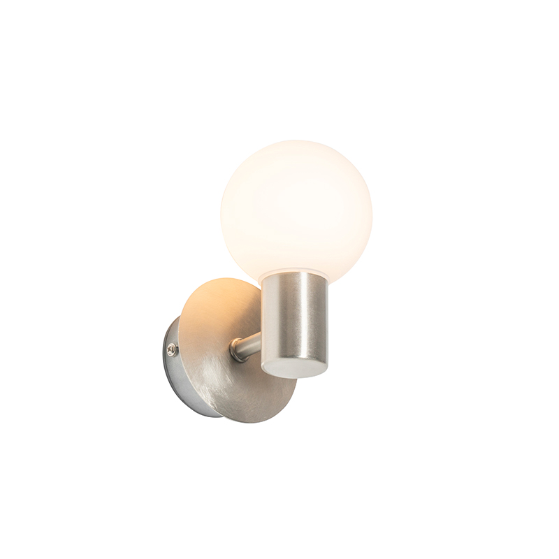 Moderne wandlamp staal IP44 - Cederic Up
