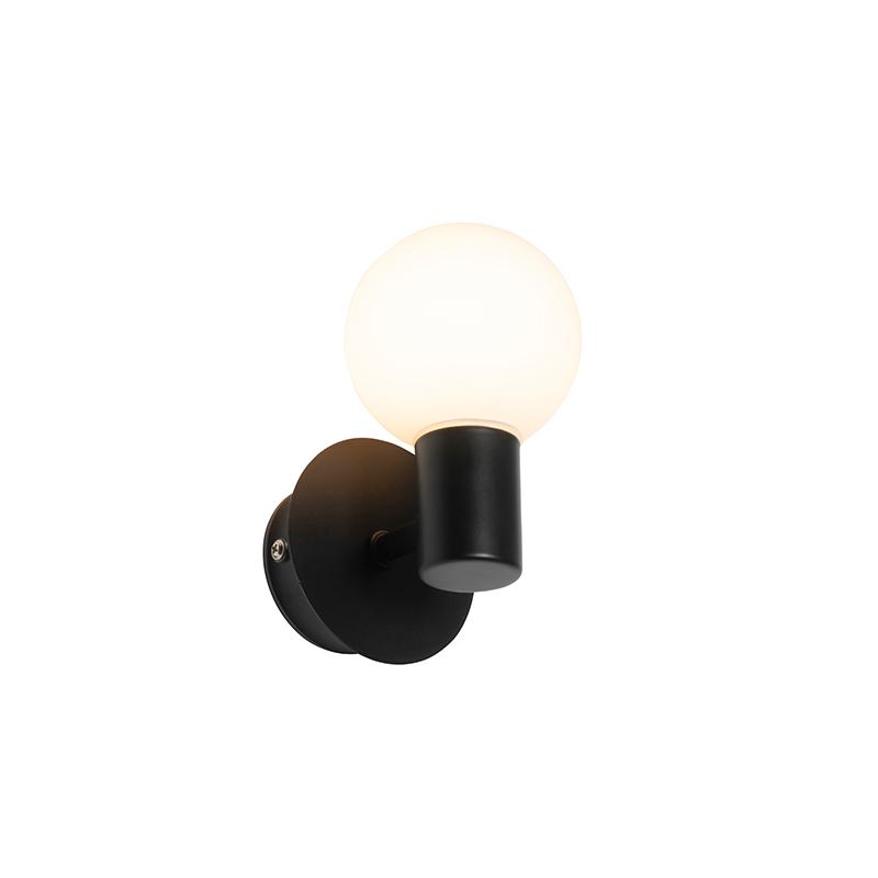 Moderne wandlamp zwart IP44 - Cederic Up