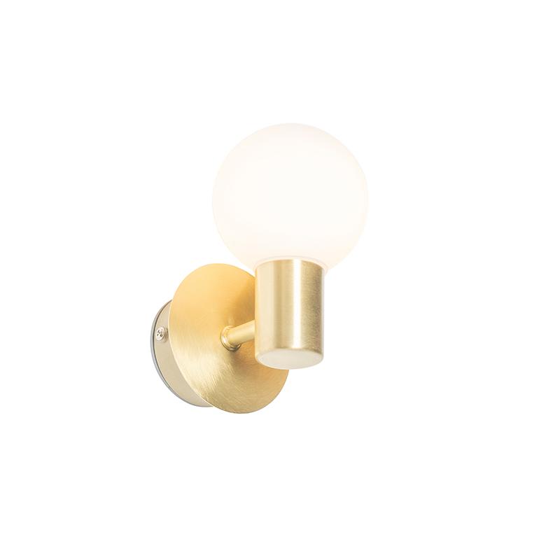 Moderne wandlamp messing IP44 - Cederic Up