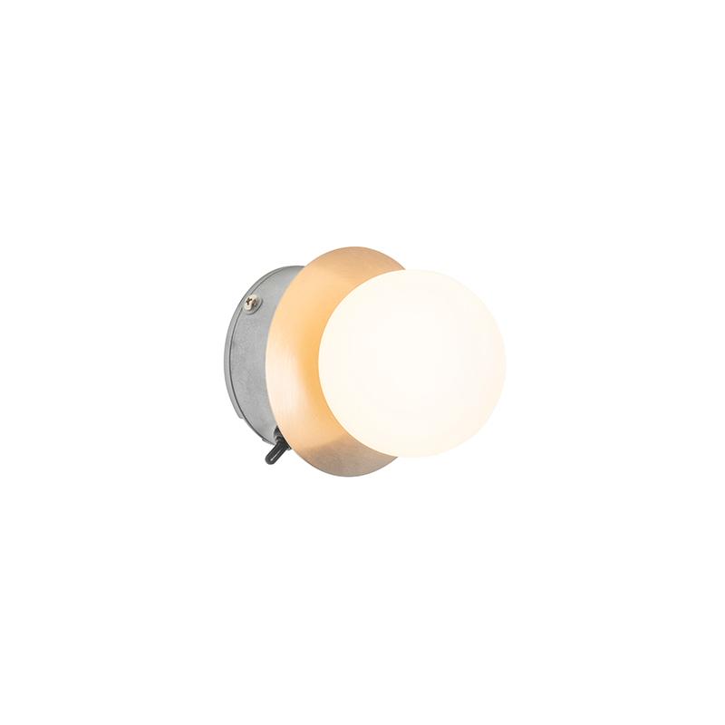 Moderne wandlamp staal IP44 - Cederic