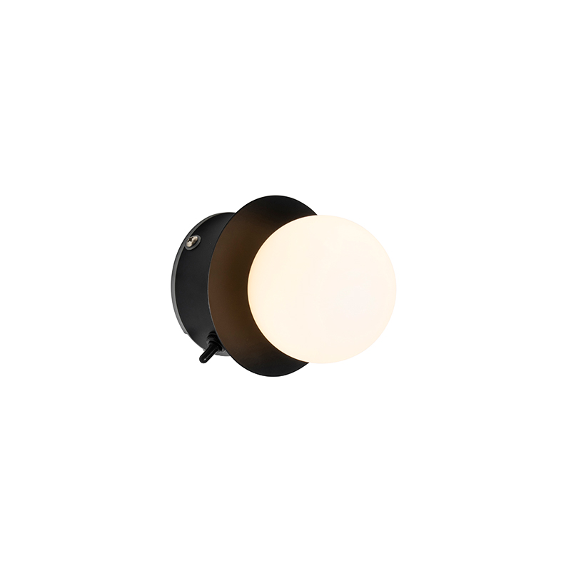 Moderne wandlamp zwart IP44 - Cederic