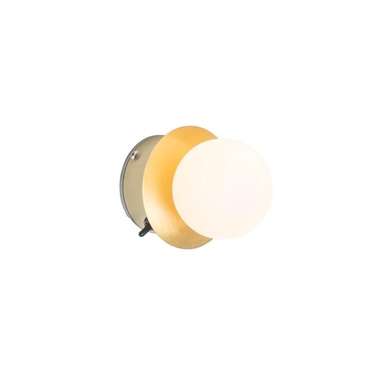 Moderne wandlamp messing IP44 - Cederic