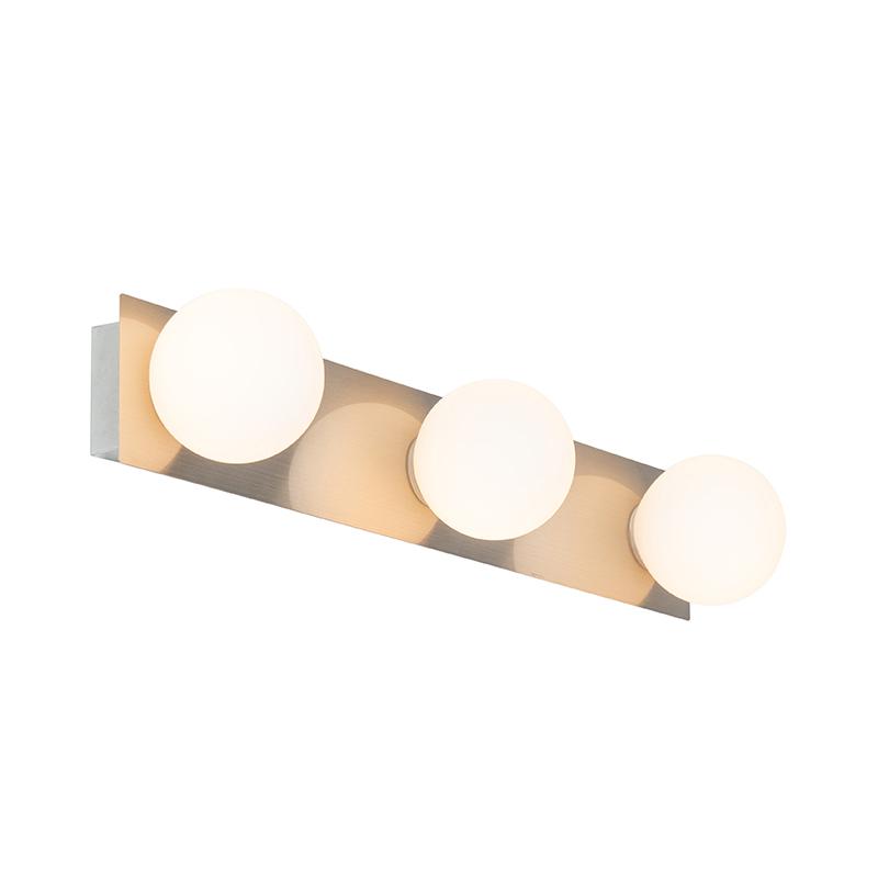 Moderne wandlamp staal IP44 3-lichts - Cederic