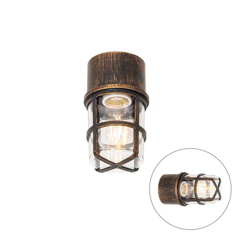 Vintage buiten wandlamp zwart IP54 - Kiki