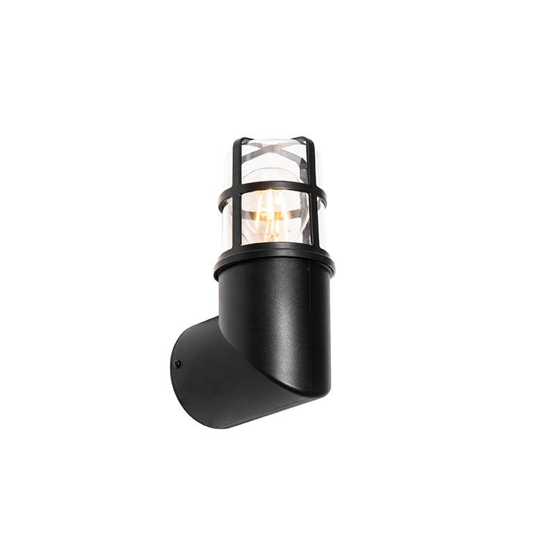 Moderne buiten wandlamp zwart IP54 20,8 cm - Kiki
