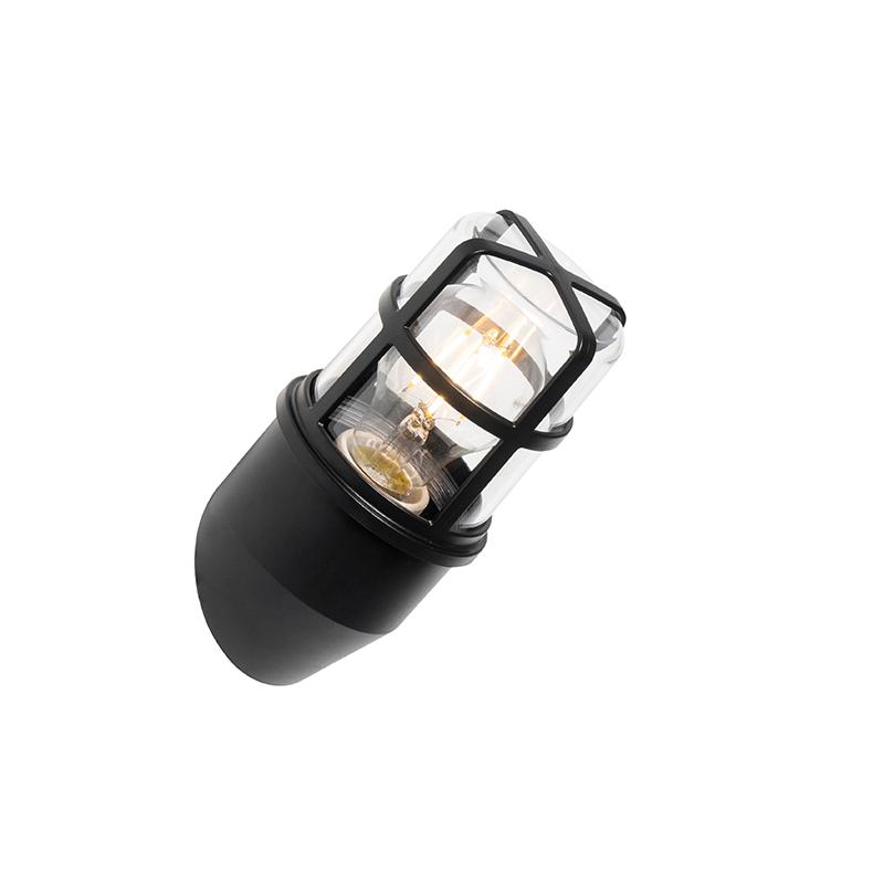 Moderne buiten wandlamp zwart IP54 - Kiki