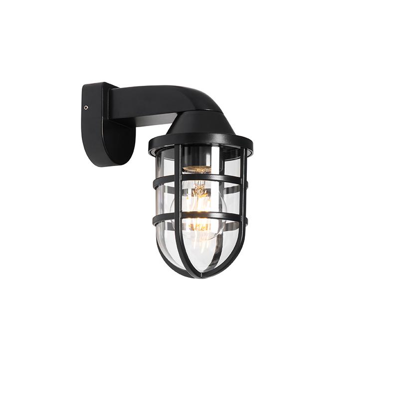 Moderne buiten wandlamp zwart IP54 - Joeri