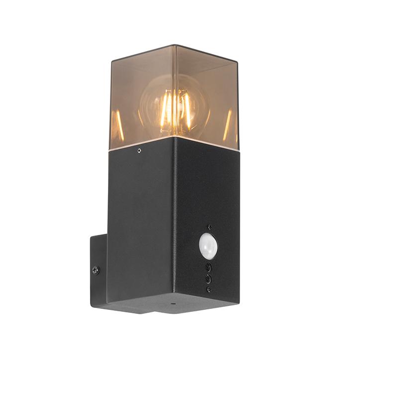 Buiten wandlamp zwart IP44 met bewegingsmelder - Denmark