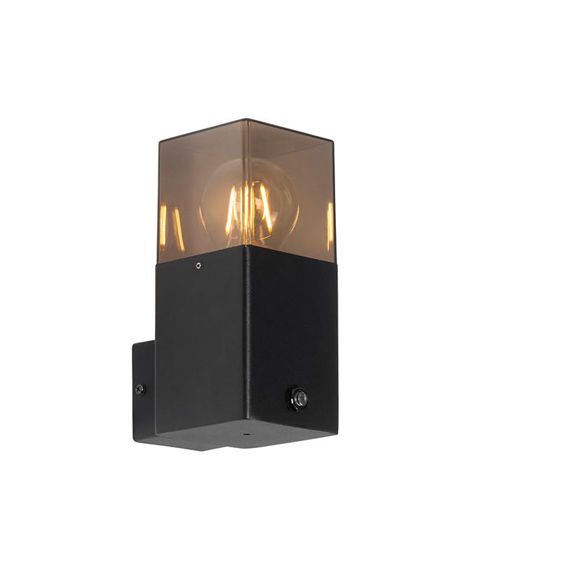 Buiten wandlamp zwart IP44 met schemerschakelaar - Denmark