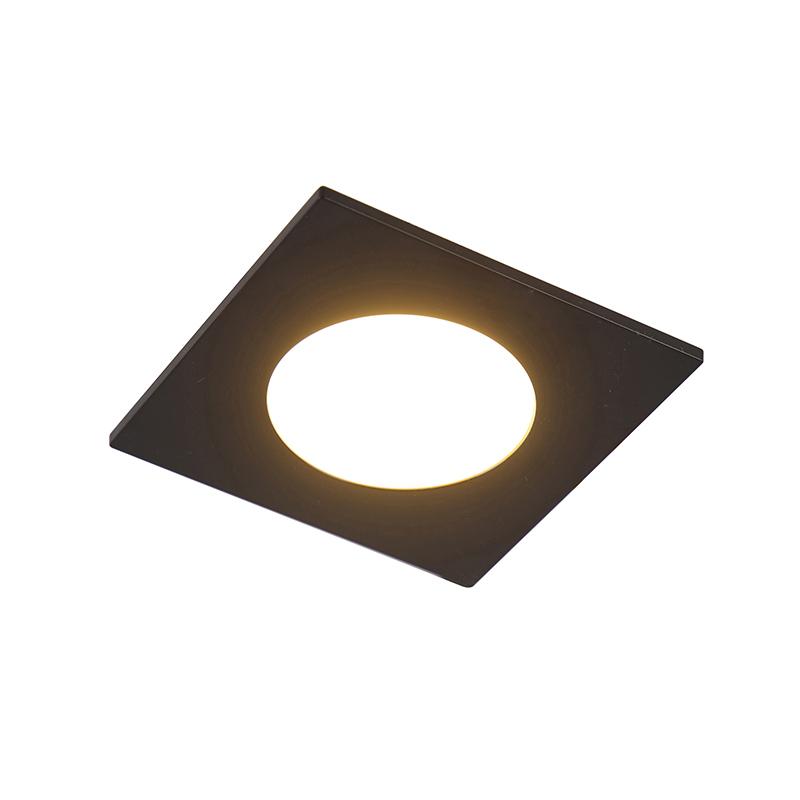 Set van 6 inbouwspots zwart incl. LED 3-staps dimbaar IP65 - Simply