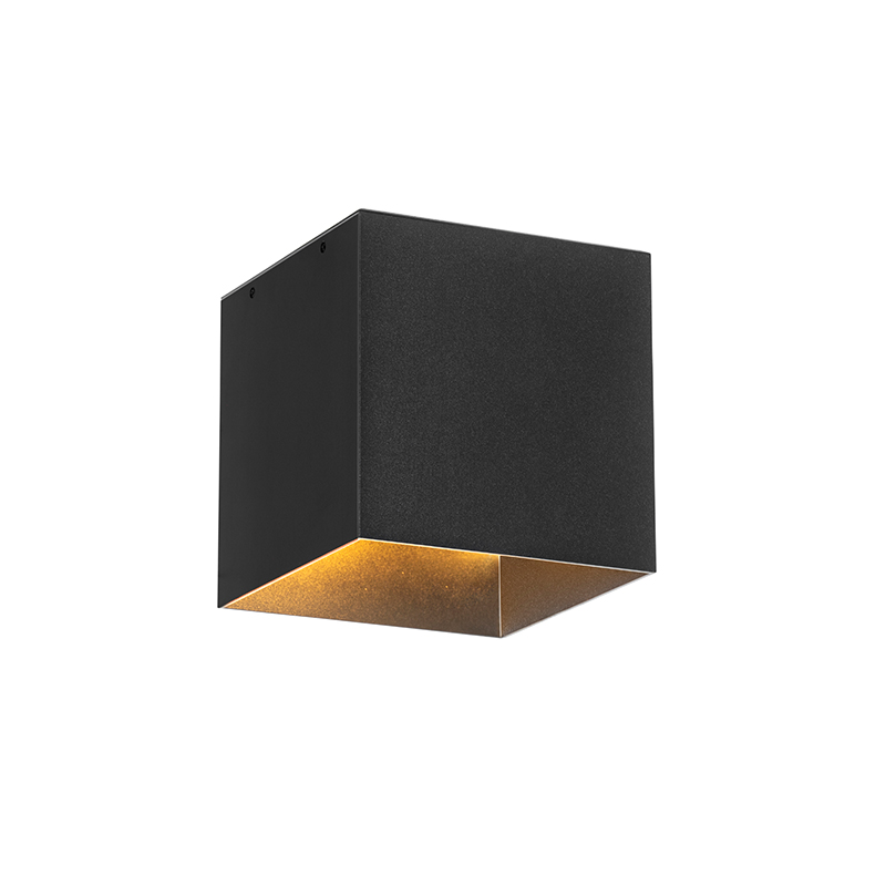 Moderne buiten wandlamp zwart IP65 incl. LED solar - Charlotte