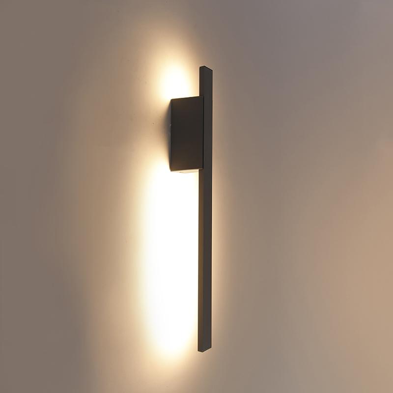Buiten wandlamp donkergrijs IP54 incl. LED - Jamal