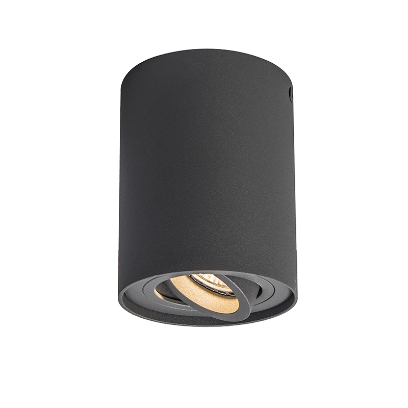 Smart opbouwspot antraciet kantelbaar incl. Wifi GU10 - Rondoo up