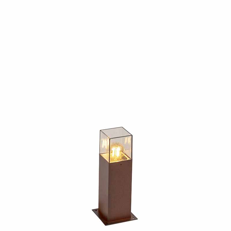 Smart staande buitenlamp roestbruin 30 cm incl. Wifi A60 - Denmark