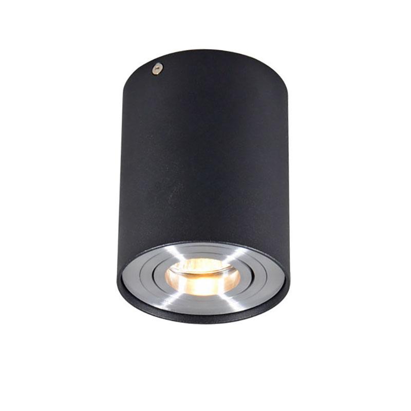 Smart opbouwspot zwart met staal incl. WiFi GU10 - Rondoo up