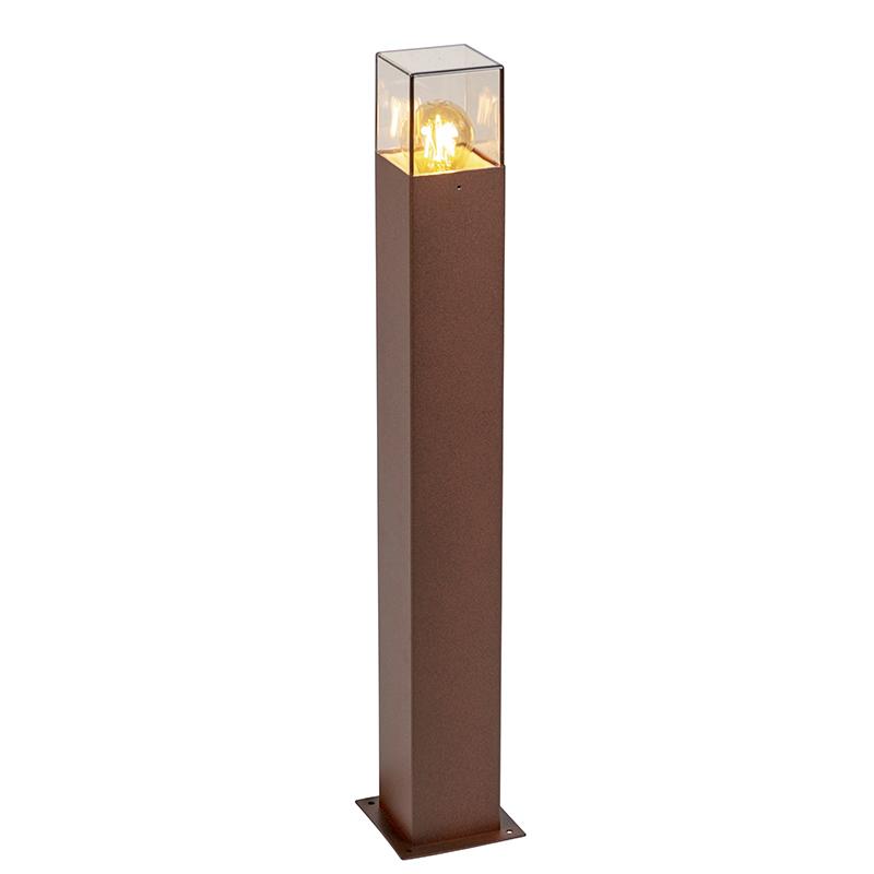 Smart staande buitenlamp roestbruin 70 cm incl. Wifi A60 - Denmark