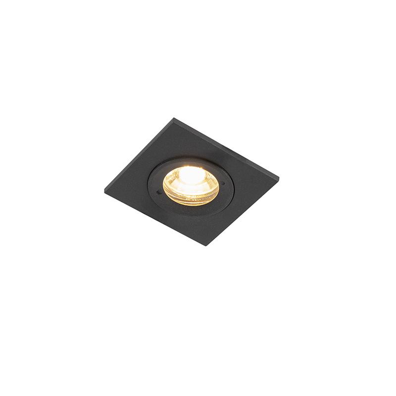 Smart inbouwspot zwart vierkant IP44 incl. Wifi GU10 - Xena