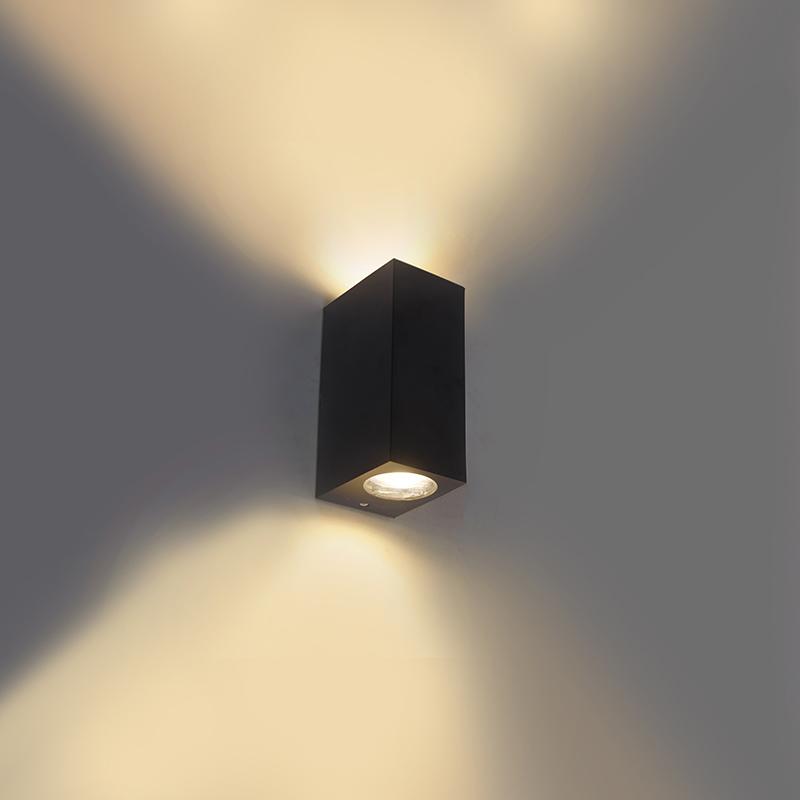 Smart wandlamp zwart van kunststof incl. 2 Wifi GU10 - Baleno II