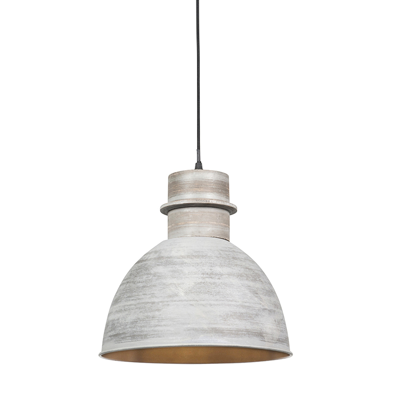 Smart hanglamp grijs 30 cm incl. wifi A60 lichtbron - Dory