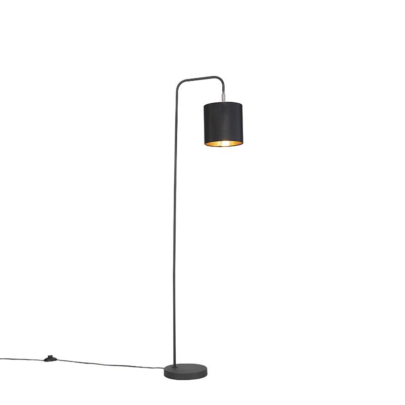 Inteligentná stojaca lampa čierna vrátane svetelného zdroja WiFi A60 - Lofty