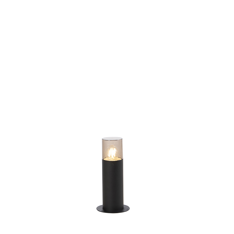 Smart staande buitenlamp zwart 30 cm incl. wifi A60 - Odense