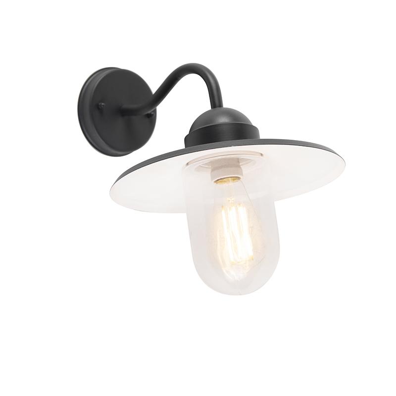 Smart landelijke wandlamp antraciet IP44 incl. wifi E27 - Kansas