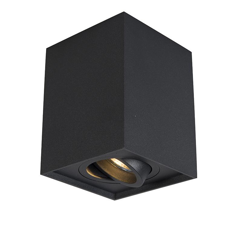 Smart spot zwart verstelbaar incl. wifi GU10 - Quadro Up