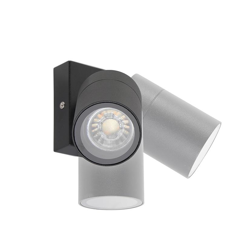 Smart buitenwandlamp zwart IP44 incl. wifi GU10 - Solo