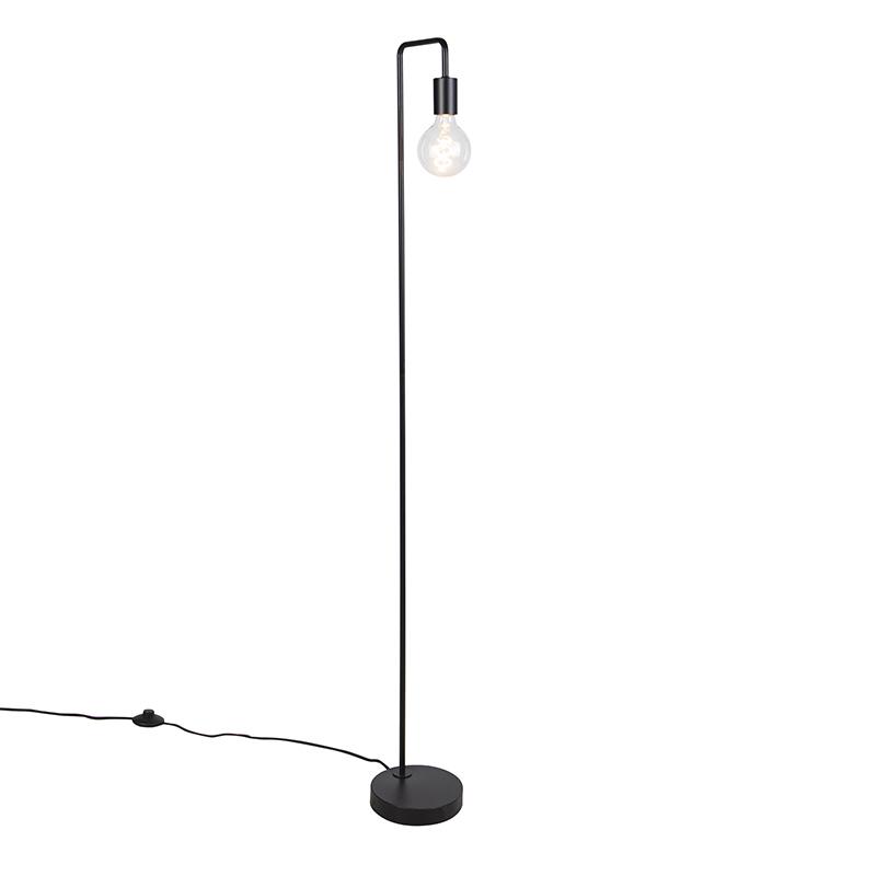Smart vloerlamp zwart incl. WiFi G125 - Facil
