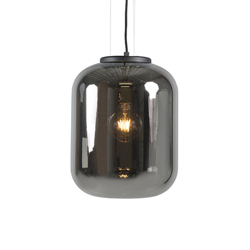 Smart hanglamp zwart met smoke glas incl. WiFi A60 - Bliss