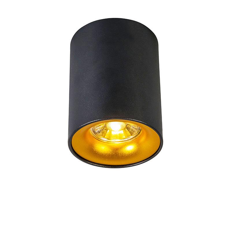 Smart spot zwart met goud incl. GU10 WiFi lichtbron - Ronda