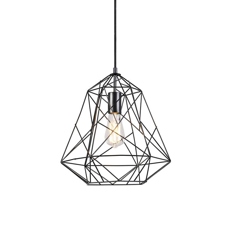 Inteligentna przemysłowa lampa wisząca czarna z WiFi ST64 - Framework Basic