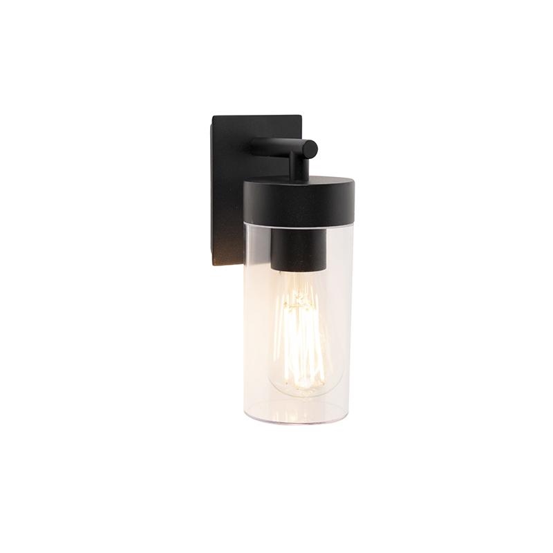 Smart moderne buitenwandlamp zwart incl. wifi ST64 - Rullo
