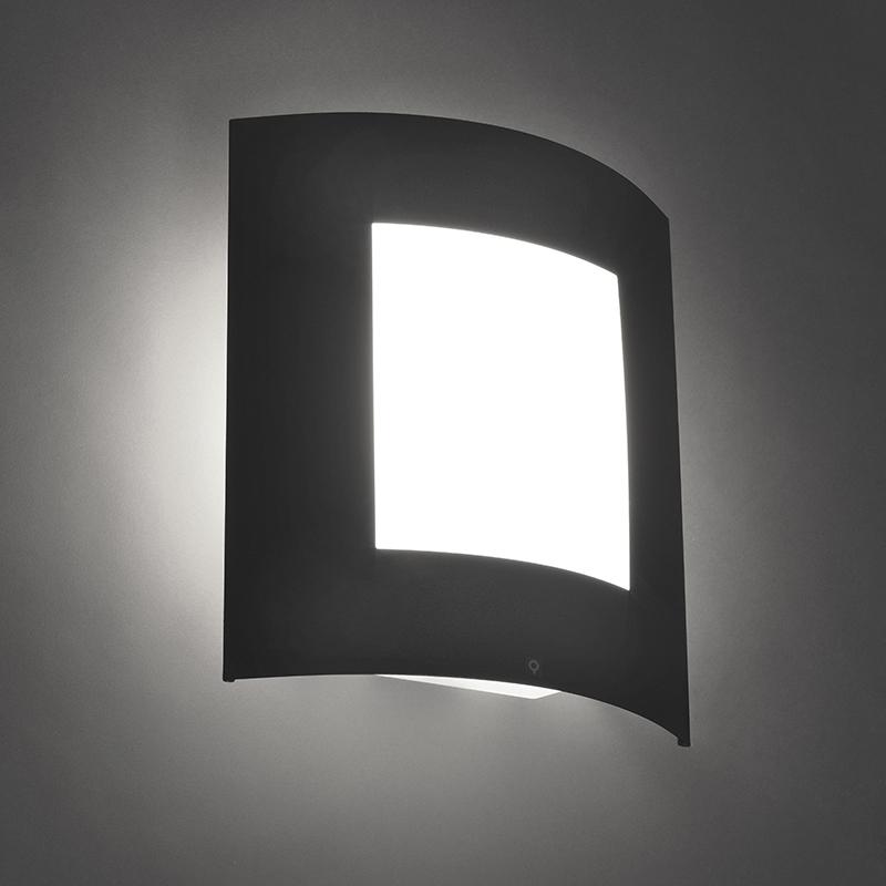 Smart buiten wandlamp antraciet incl. WiFi A60 - Emmerald