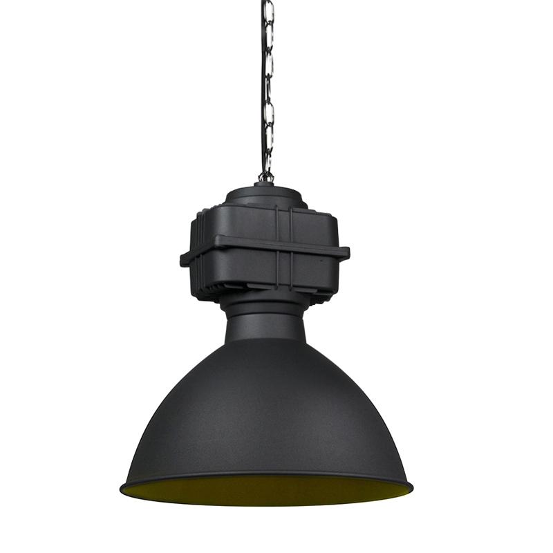 Smart industriële hanglamp zwart 38,5 cm incl. A60 WiFi - Sicko
