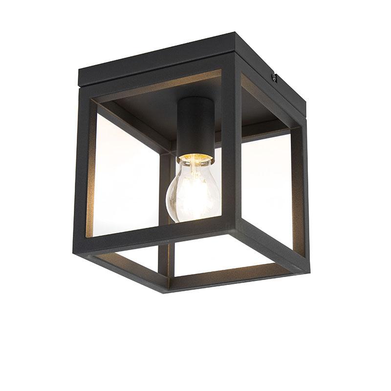 Smart industriële plafondlamp zwart incl. wifi A60 - Cage 1