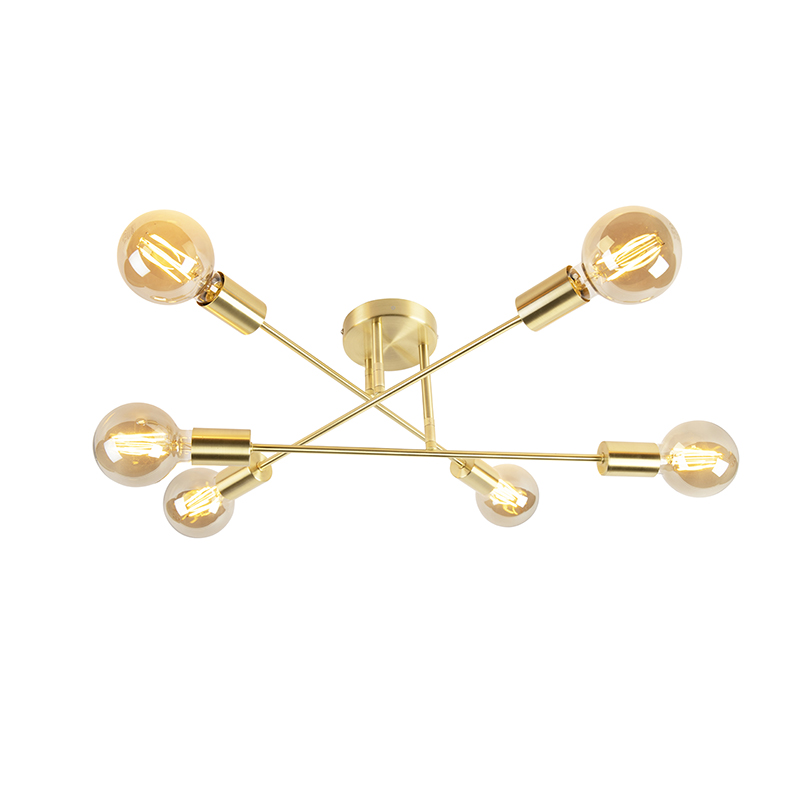 Smart plafondlamp goud incl. 6 wifi G95 - Sydney Bondi