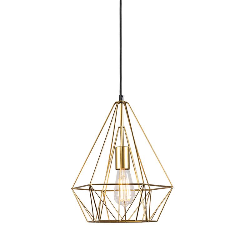 Smart industriële hanglamp goud incl. wifi ST64 - Carcass