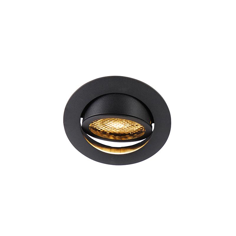 Smart inbouwspot zwart incl. WiFi GU10 verstelbaar - Ude Honey