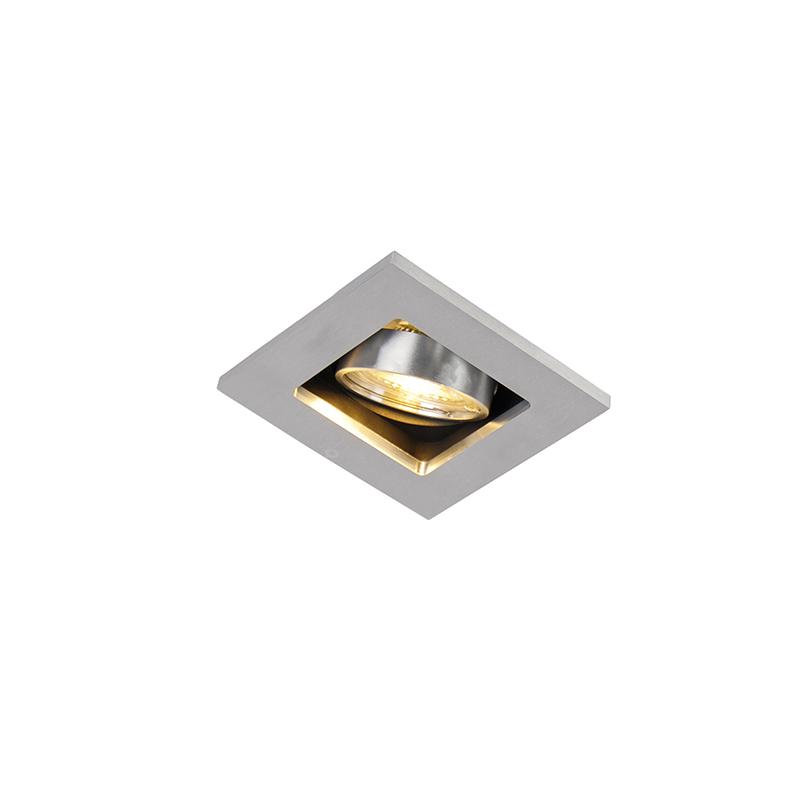 Smart inbouwspot staal incl. WiFi GU10 kantelbaar - Qure