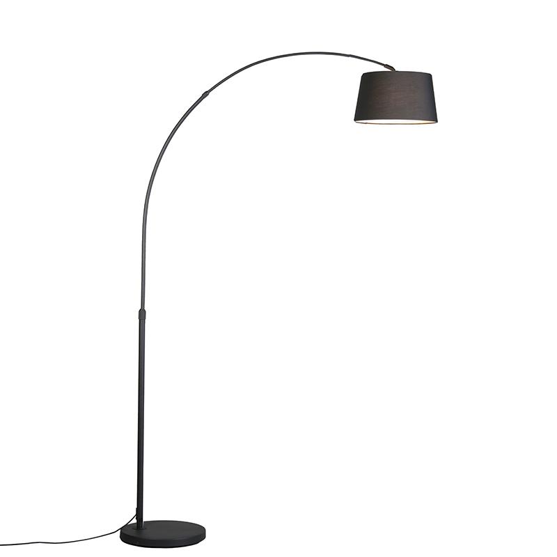 Smart moderne booglamp zwart incl. Wifi A60 - Arc Basic