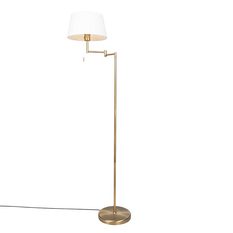 Smart vloerlamp brons met wit incl. WiFi A60 - Ladas Fix
