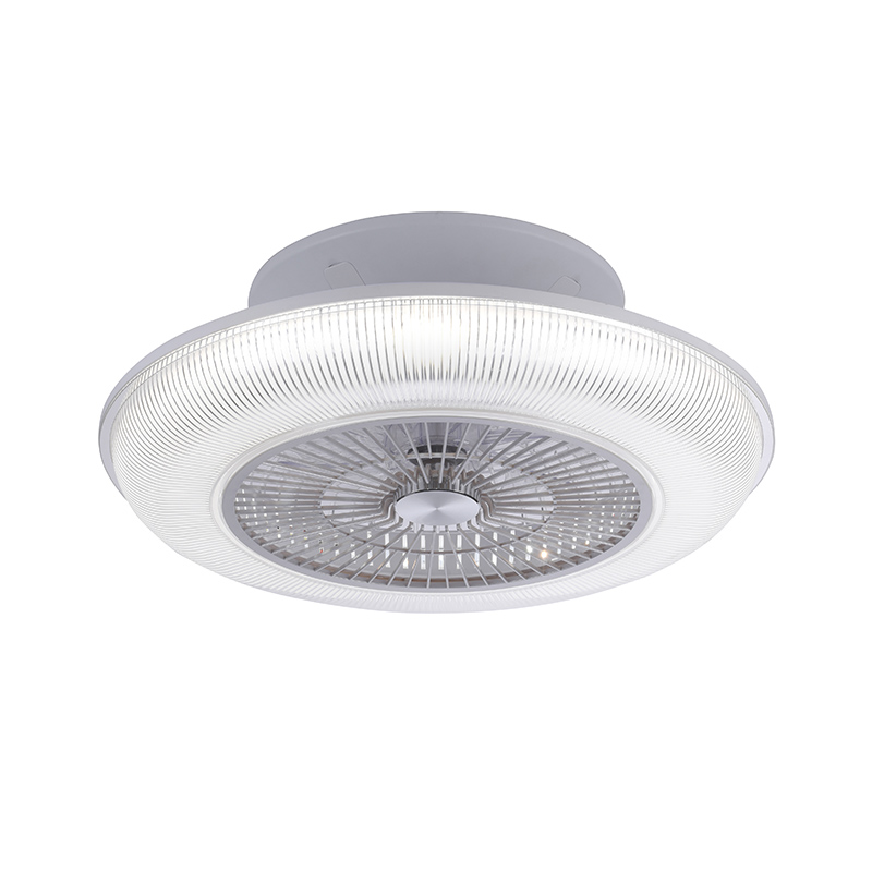 Design plafondventilator grijs incl. LED RGB 2700 - 5000K - Raki