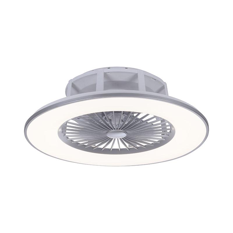 Design plafondventilator grijs incl. LED 2700 - 5000K - Maki