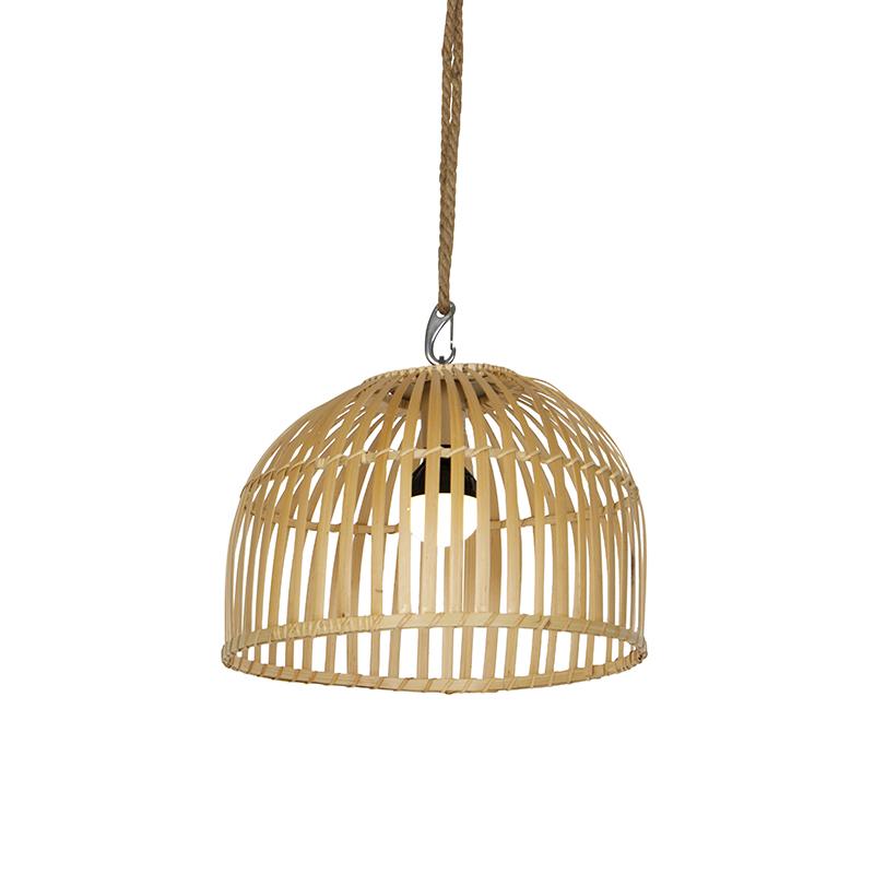 Buiten hanglamp bamboe IP44 incl. LED dimmer RGB - Maurice