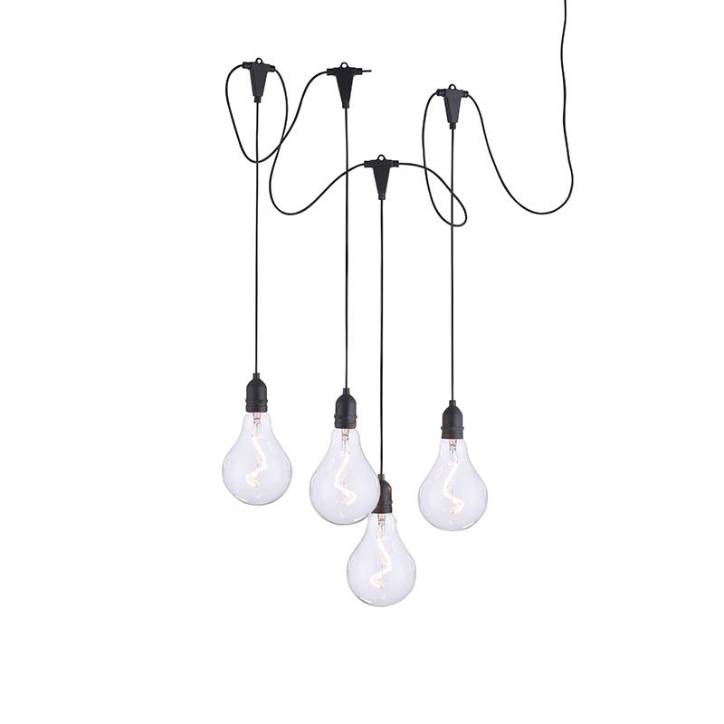 LED slinger glas 4-lichts IP44 - Nomade