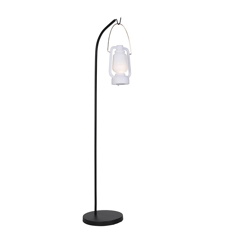 Design buiten vloerlamp zwart IP44 incl. LED - Mart Storm Small
